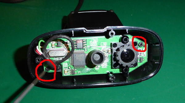 Disassembling the C270 - remove the PCB
